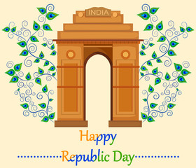 Happy Republic Day of India with India Gate