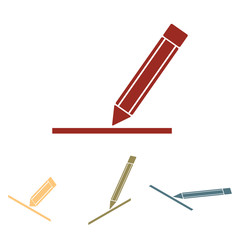 Pencil icon , vector illustration set.