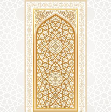 Oriental golden gate. Vector illustration