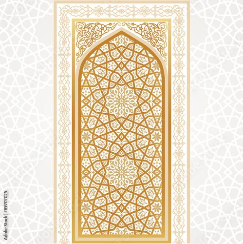 oriental golden gate vector illustration pic 99707025. Black Bedroom Furniture Sets. Home Design Ideas