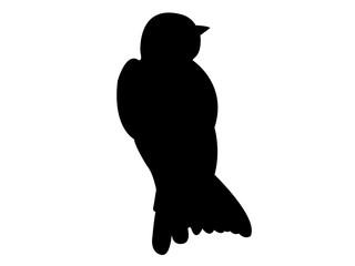 Swallow Bird Silhouette Vector EPS 10
