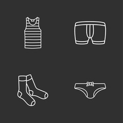 four modern clothes icons
