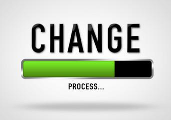 Change - process bar illustration