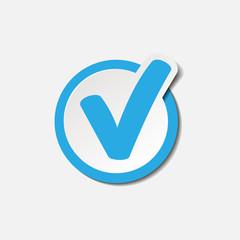 Знак, Символ, Иконка выполнения или подтверждения действия. Отметка
