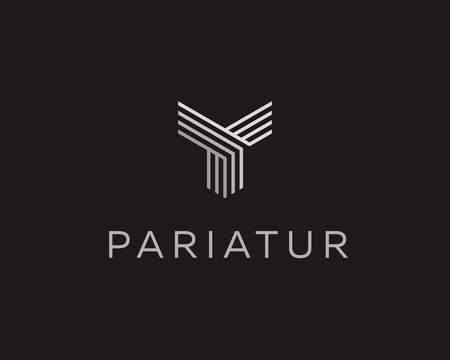 Abstract universal premium logo design. Creative line symbol.