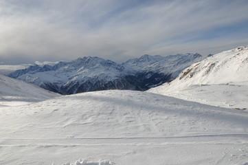 Schareck, Hochtor, Großglockner, Spuren im Schnee, Schispur, Winter, Tiefschnee, Großglocknerstraße