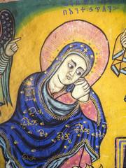 Bible Art in Ura Kidane Mihret Church