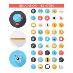 Education and office icon set