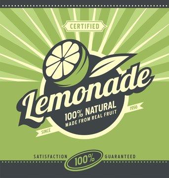 Lemonade retro poster design