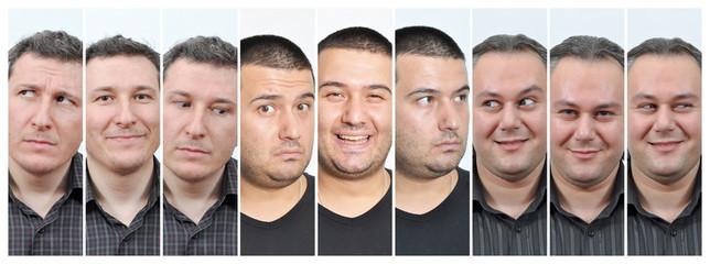 Men facial expressions