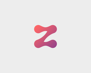 Abstract letter Z logo icon vector design. Universal colorful biotechnology molecule atom dna chip symbol. Medicine, science, technology, laboratory, electronics logotype.