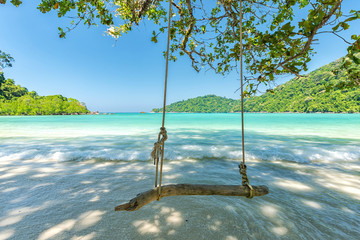 Printed roller blinds Tropical beach Beautiful tropical beach at Surin Island , Thailand