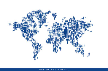 By the people makes up the world map