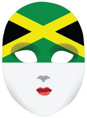 mask Jamaica flag