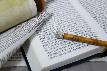 Torah, Bible, parchment, and the sons have returned