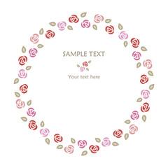 Rose frame-Circle