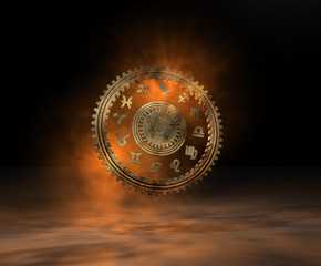Tierkreis Horoskop Zahnrad i