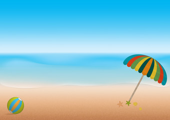 Sea beach summer for relax. Vector