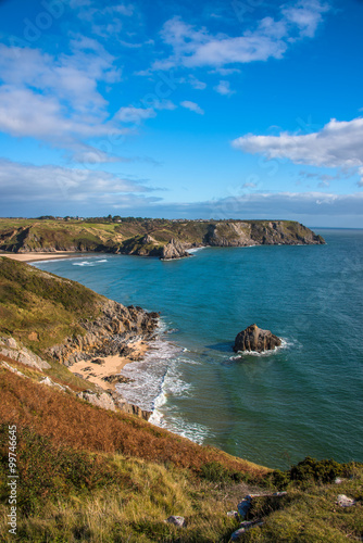 Fototapete View of Three Cliffs Bay