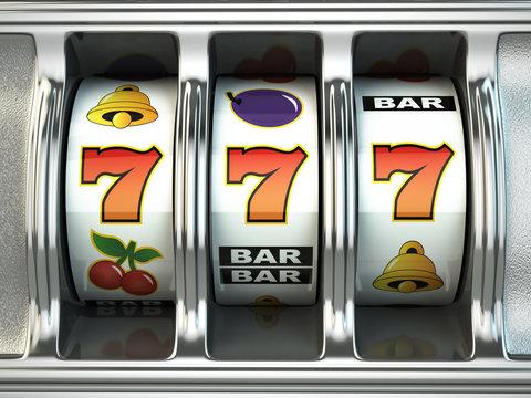 Slot machine with jackpot. Casino concept.