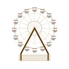 Ferris Wheel Vector Illustration.