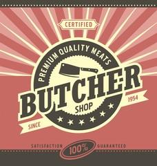Butcher shop minimalistic vector design