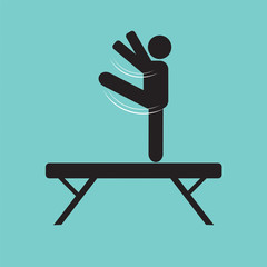 Balance Bars Gymnastics Vector Illustration.