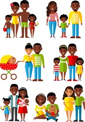 All age group of african american, european people. Generations man and woman.