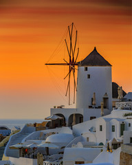 Santorini, Greece - Oia at sunset
