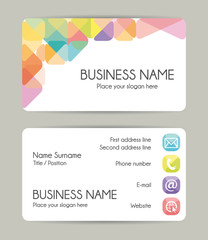 Creative Graphic Business Card Design Front And Back Vector Set