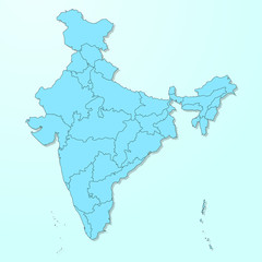 India map on blue degraded background vector