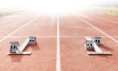 starting blocks on running tracks