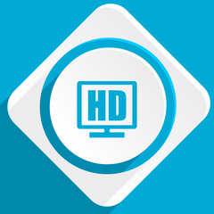 hd display blue flat design modern icon for web and mobile app