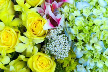 yellow bouquet flower