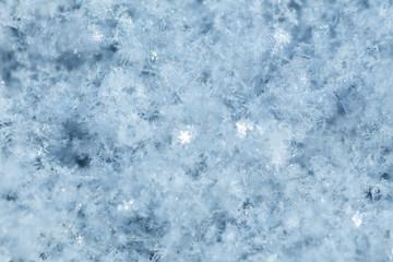 Snow surface closeup.