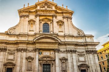 The Church of Saint Ignatius of Loyola in Rome