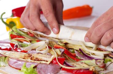 Healthy Salad Tortilla wraps