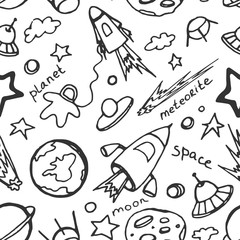 Doodle pattern cosmos