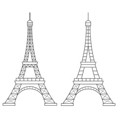 Eiffel Tower Vector Line Icon.