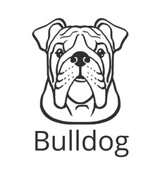 Bulldog black vector icon logo illustration