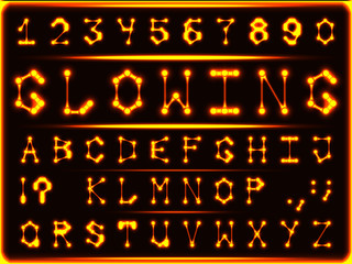 The font of red-hot glowing gold