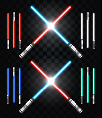 Light swords. Star war. Laser weapons, laser sword, neon sword