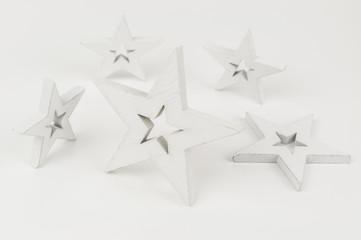 five white stars