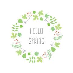 Floral spring vector frame