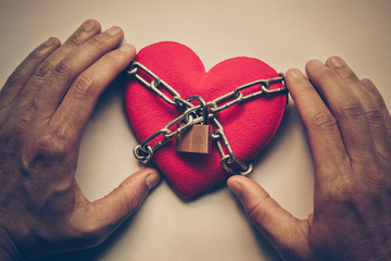 Preview Save to a lightbox  Find Similar Images  Share Stock Photo: A heart tied with chains and locks