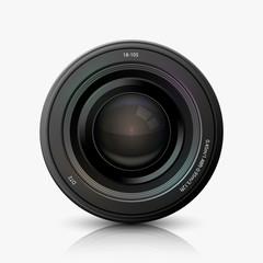 Vector modern camera icon on white