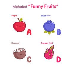 """Alphabet """"Funny fruits"""""""
