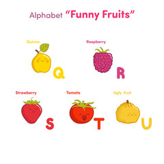 "Alphabet ""Funny fruits"""