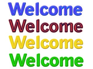 Welcome. Set in four variations of words in an isolated environment.
