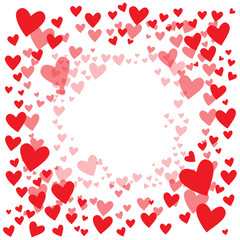 Vector background with hearts for greeting cards, banners, posters Valentine's Day